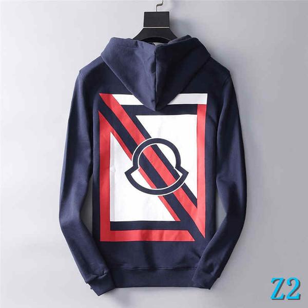 Mens Hoodies Strickjacke der neuen Marken-Sweatshirt Herbst Herren Langarm-Sweatshirt Herren Bekleidung Herren Pullover Größe M-2XLZ2