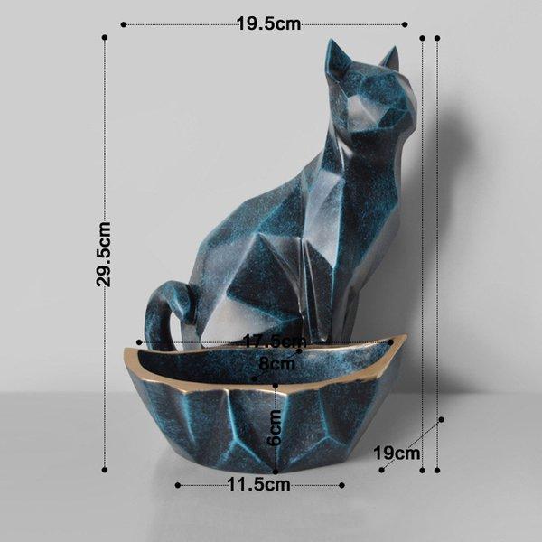gato azul retro