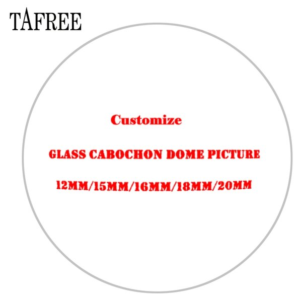 TAFREE Personalized Photo Customize Charms Beads 12 mm 20 mm 25 mm Glass Cabochon Dome Base Cover Pendant For Necklace Keychain Jewelry NA01