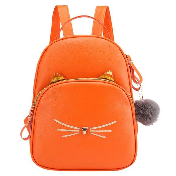 kkmhan back bag fashion women students hairball solid color school bag backpack shoulder dropshipping zaino sac