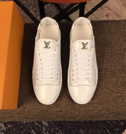 Yeni high-end rahat erkek ayakkabıları ithal üst katman deri üst rahat ayakkabılar düz ayakkabı 207515