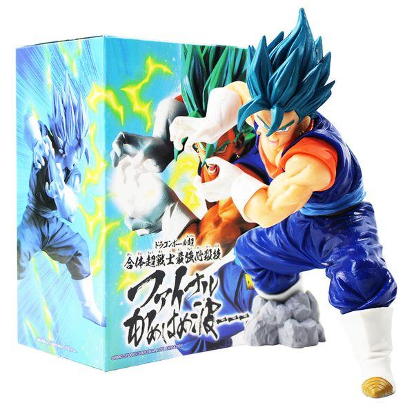 18 cm Dragon Ball Z Super Saiyajin Gott Vegeta Kamehameha Dragonball Blau Haar Figur PVC Action Figure Sammeln Modell Puppe Spielzeug Y190529