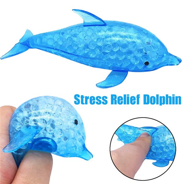 Anti Stress Reliever Dolphin Ball Squishy Phone Straps Anti Stress Squeeze Stretchy Funny Tricky Charms Toy Xmas Gift