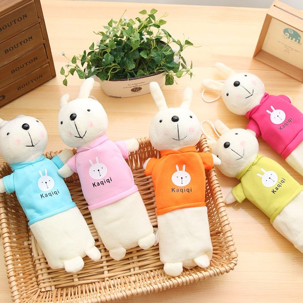 Cute Cartoon Kawaii Plush Pencil Case Creative Lovely Easter Rabbit Pen Bag for Kids Gift School Supplies Pencil Pouch Free shipping 847
