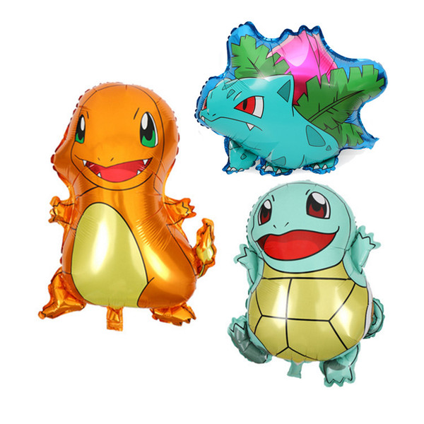 Aluminum Balloon 2019 Hot Pikachu Jenny Turtle Miao Frog Seed Small Fire Dragon Cute Animal Air Balloon Four Kinds of Picks Kids Best Gift