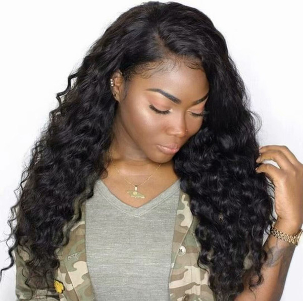 Human Hair Wig Short Deep Curly Pre Plucked