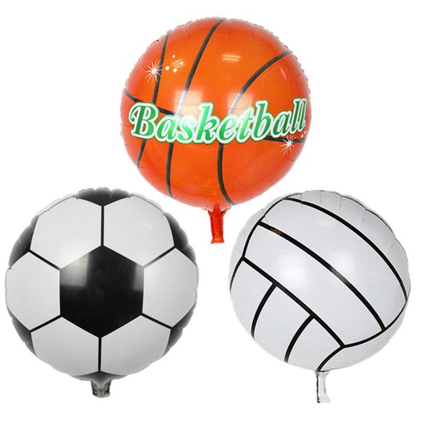 2pc 18inch Sport Ball Foil Balloons Basketball Volleyball Football Match Balloons Decoration Kids Toys Birthday Party Gifts