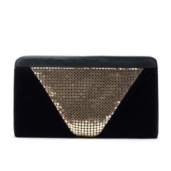 Fashion Patchwork Bling Women's Clutch Bag Leather Ladies Envelope Bag Evening Dinner Party Bag Female Wallet Handbag