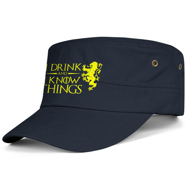 Womens Mens Plain Adjustable Game of Thrones I Drink and I Know Things Hip Hop Cotton Dad Hats Golf Cadet Army Caps Airy Mesh Hats For Men W