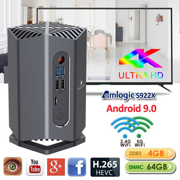 A95X MAX + Amlogic S922X Android 9.0 4Go 64Go ROM Gaming TV BOX double WIFI 2.4G + 5G BT4.2 mieux que X96 Mini