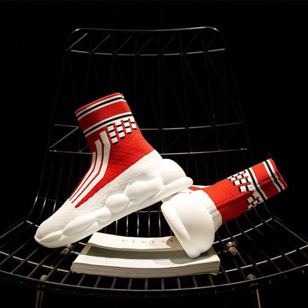 Piyasada yeni ürünler sıcak çorap ayakkabı kadın 2019 yaz kalın alt yüksek yardım mermi nefes rahat fly dokuma ayakkabı ayakkabı gelgit
