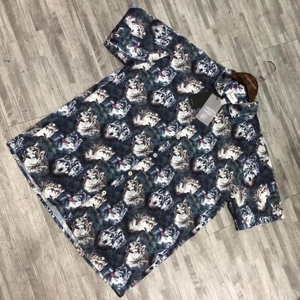 Rhude 19ss Eagle Camisa de flores hawaianas de manga corta Hombres Mujeres Verano Cool Beach T-shirt Vintage Casual Fashion Holiday Tee HFLSCS030