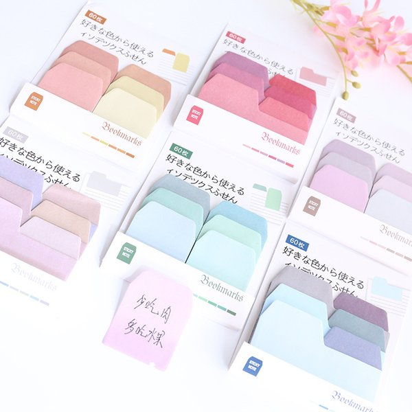 top popular Creative Watercolor Gradient Japanese Sticky Note Office Planner Sticker Paper Stationery School Supplies 2020
