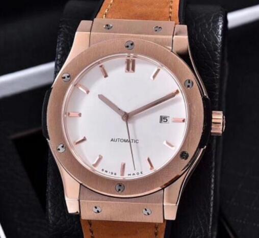 mens watch Glide smooth whtie dia Mens watch designer Automatic self winding movement Watch big Sports Wristwatch