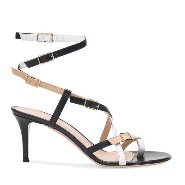Festa da senhora sapatos facotry personalizado moda stiletto calcanhar menina verão escritório sandália de alta qualidade feitos à mão sapatos