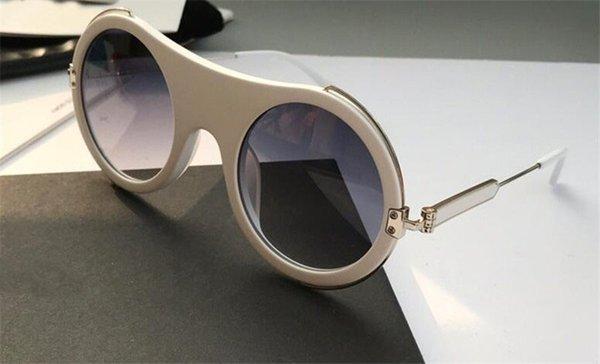 Lunettes de soleil pour femmes de marque de mode en gros rondes monture en métal style populaire avant-gardiste uv 400 lunettes de protection