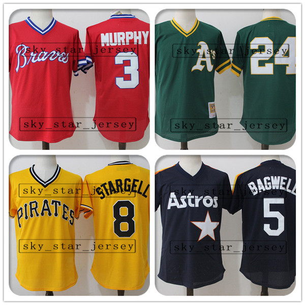 buy popular bcfde fb41a 2019 Wholesale Retro And Mesh Atlanta Jerseys Braves Oakland Jersey  Athletics Pittsburgh Jerseys Pirates Houston Jerseys Astros From  Sky_star_jersey, ...