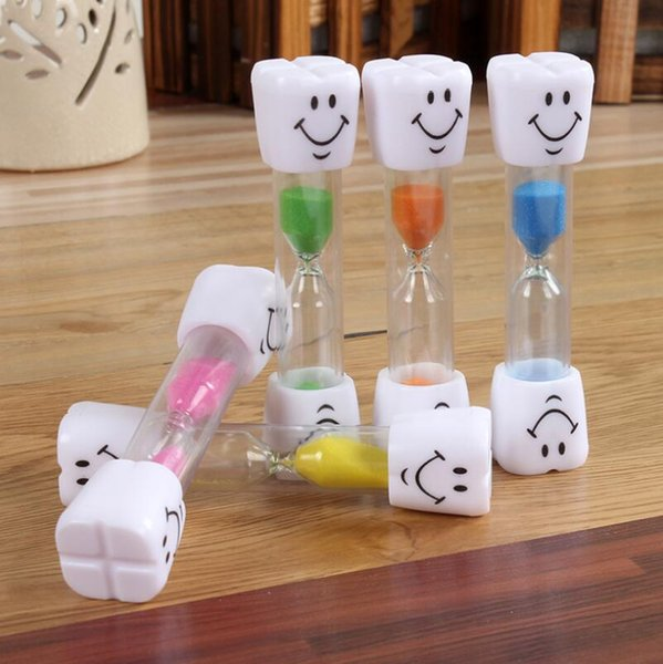 Sand Clock 3 Minutes Smiling Face The Hourglass Decorative Household Kids Toothbrush Timer Sand Clock Gifts Ornaments Christmas LX6067