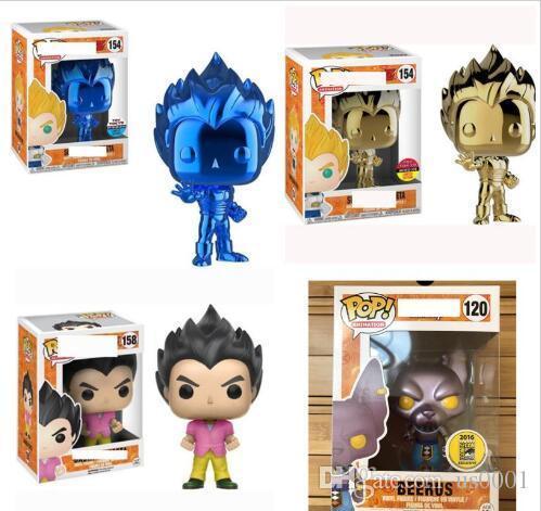 Funko pop Dragon Ball Super Vegeta Electroplating Gold Amine Dragon Ball Vinyl Action Figure Collectible Model Toys