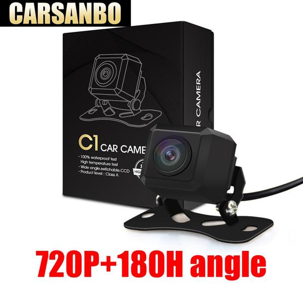 Carsanbo 2019 Datum 180-Grad-Weitwinkel 720P HD Fischaugen-Objektiv-Auto-hintere Ansicht-Rückseiten-Kamera-Monitor Parkplatz