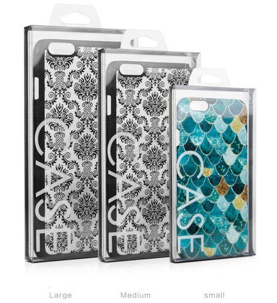 iPhone 11 xr 4.7 5.5 Cep Telefonu Kılıfı için Box Packaging iphone 11 pro max özelleştir için 100pcs Blister PVC Plastik Şeffaf Perakende Ambalaj