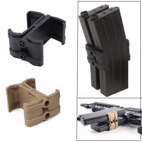 Nylon Polymer Tactical Airsoft 5.56 Magazine Parallel Connector Modificato Pouch Per AR15 M4 Airgun Caccia Rifle Accessorio