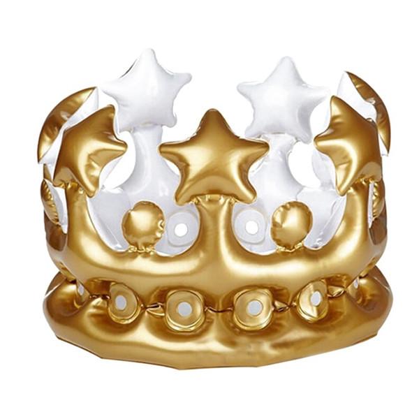 pour enfants gonflables Crown Cap Gold Party Enfants enfants Couronne PVC Ballon Chapeau d'anniversaire gonflable Hat Party exquis décor.