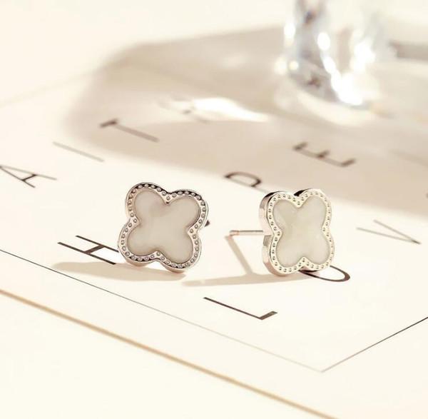 White+Silver Earrings