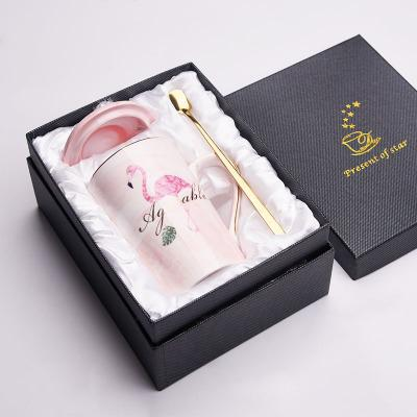 Pink Flamingo +Gift box