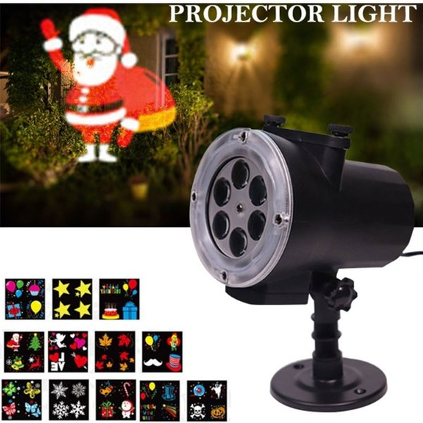 Projector Lights Lawn Lamp Portable Christmas LED Moving Plastic Beautiful