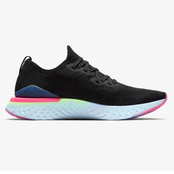 Designer Epic React Fly 2 Kniting Running Shoes Women Mens Trainers Breathable Black White Pink Chaussures de sport Sports Sneakers