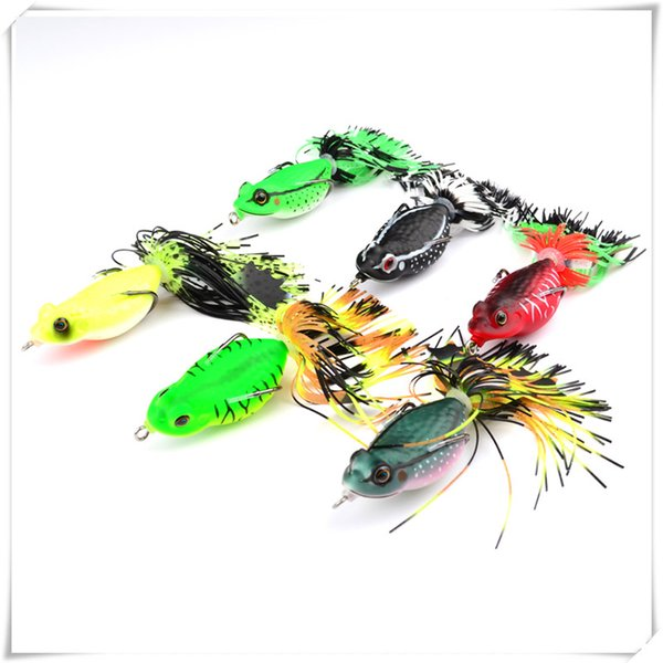 Fishing 6.35cm/20g Soft Bait Frog Fishing Lures With Tassel Tail Crankbaits For Bass Snakehead