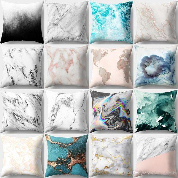 16 Designs 45*45cm Marvel Texture Cushion Covers Bedroom Seat Decorative Pillow Home Decor Kitchen Accessories Party Decoration