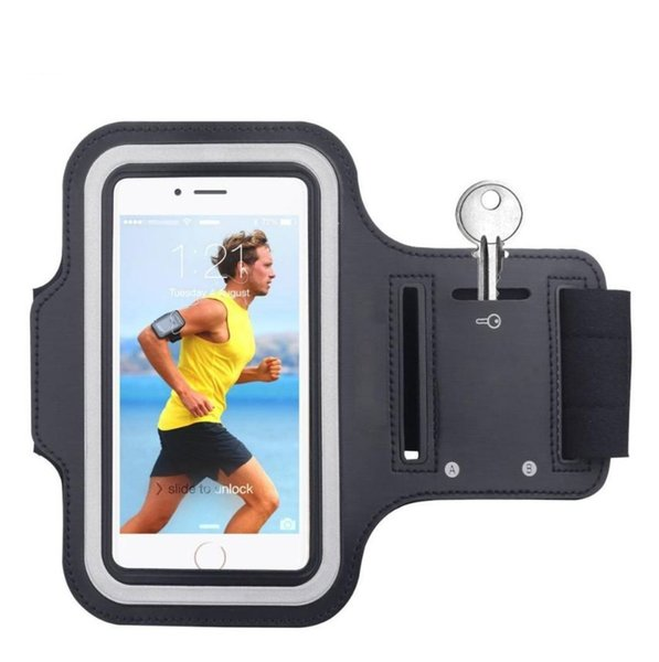 Waterproof Gym Sports Running Armband for iPhone 6s 7 8 Plus Phone Case Cover Holder Armband Case for iPhone Samsung Huawei (Retail)