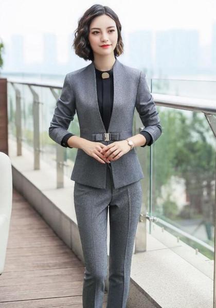 grey pant suits