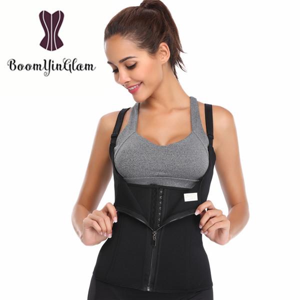 Free Shipping Adjustable Straps Neoprene Sauna Sweat Vest Waist Trainer Cincher Shaper Body Shaperwear Underbust Corset 604#