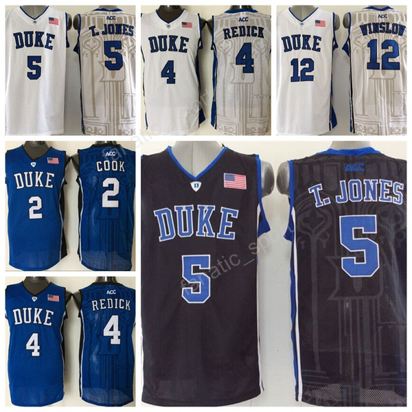 competitive price 8e3bb f7fec 2019 College Duke Blue Devils Jerseys 4 Jj Redick 5 Tyus Jones 12 Justise  Winslow 2 Quinn Cook Basketball Jerseys Embroidery Blue White From Since,  ...