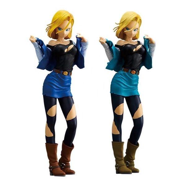 25cm Dragon Ball Z Android 18 Lazuli sexy Action Figure PVC Nouvelle Collection figurines jouets Collection pour cadeau de Noël