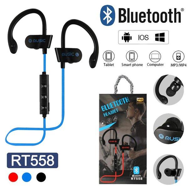 RT558 sem fio bluetooth fones de ouvido fone de ouvido sem fio fones de ouvido bluetooth fone de ouvido com cancelamento de ruído sweatproof esporte fones de ouvido para iphone x samsung