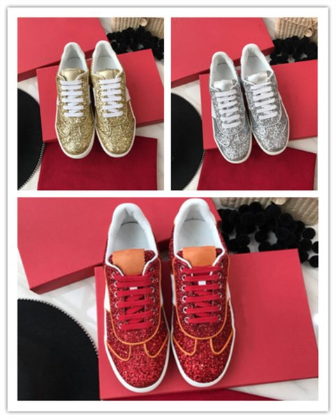 Stylish casual shoes with classic sequin upper and comfortable spring net soft sole with breathable PU leisure sole Shiny women\'s shoes