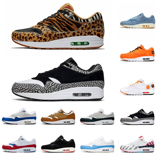 Compre Nike Air Max 1 X Atmos Animal Pack 3.0 Zapatillas Deportivas Atmos X Air 1s Animal Pack 3.0 Elephant Parra Bred What The Print Sports Designer