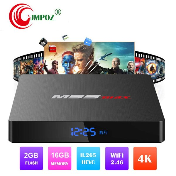 Hot M9S MAX Caixa de TV Android 2 GB 16 GB Android 7.1 Amlogic S905W Quad Core Ultra HD 4 K Streaming Media Player Melhor MXQ Pro 4 K TX3 X96 2 GB