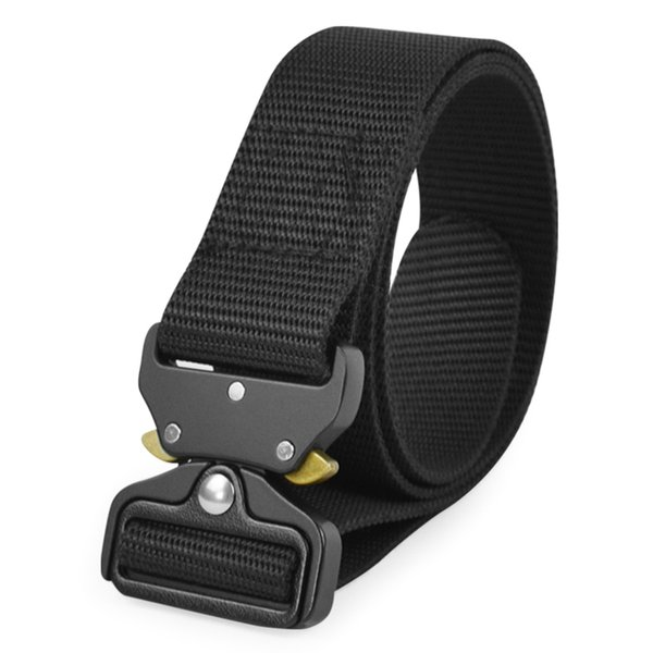 Outdoor Tactical Waist Belt Breathable Nylon Quick Release Men Tactical Belt for Training Hunting Outdoor Equipment Wear Bag