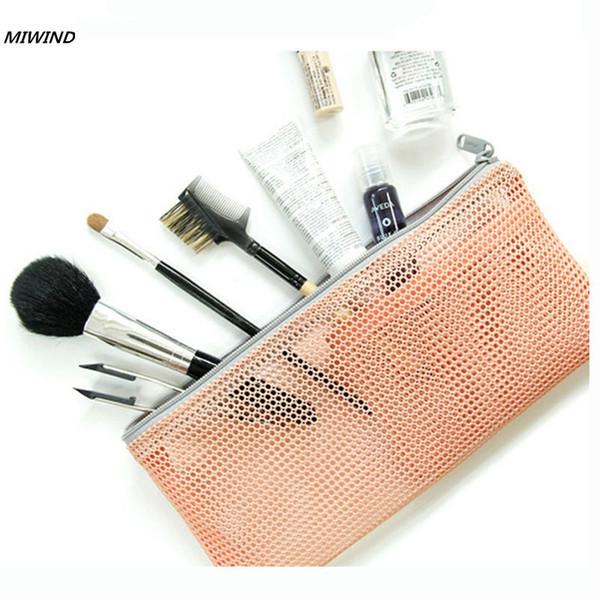 Bag Women Nylon Travel Insert Organizer Handbag Purse Lady Makeup Cosmetic Bag Cheap Female Tote Travel waterproof Transparent #159497