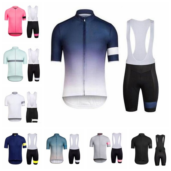 RAPHA Team Cycling Short Sleeve Jersey Bib Shorts Set Set quick-drying bicycle clothing men's breathable outdoor sports 52723