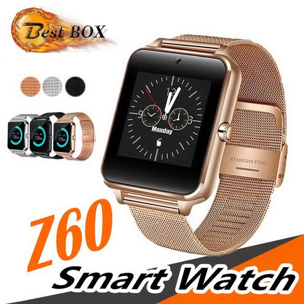 Z60 Smart Watch GT08 Plus Orologio in metallo con slot per schede SIM Messaggio push Connettività Bluetooth Android IOS Phone Smartwatch PK S8 GT08 Q18