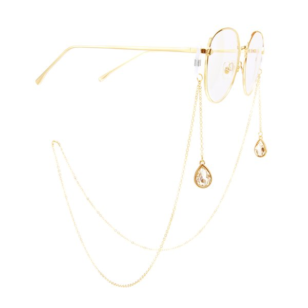2019 A última moda venda quente Anti-Slip de metal corda de óculos de ouro pingente de gota de óculos de moda acessórios de moda
