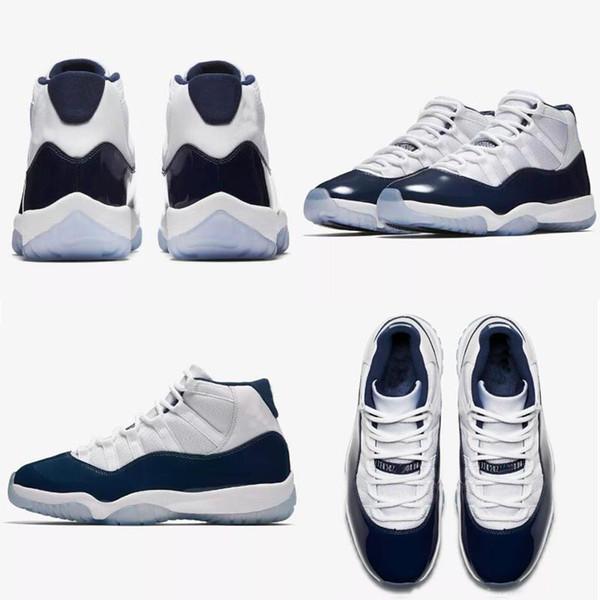 11 Баскетбольные кроссовки 11с UNC Midnight Navy 378037-123 Женщины Мужская Тренер Спортивная обувь Размер 36-47 с BOX