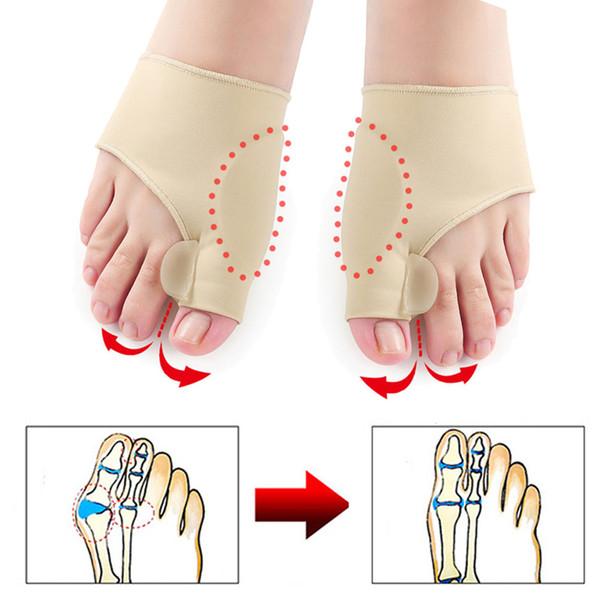 Toe separatore alluce valgo Bunion Corrector Ortesi Piedi Bone Correzione Thumb Regolatore Pedicure calzino raddrizzatore