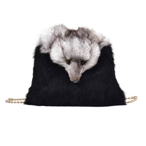 Designer Handbags Women Autumn Winter Female Bags Rabbit Fashion Shoulder Bag Crossbody Bags Casual Plush Fox Decoration Handbag Purses